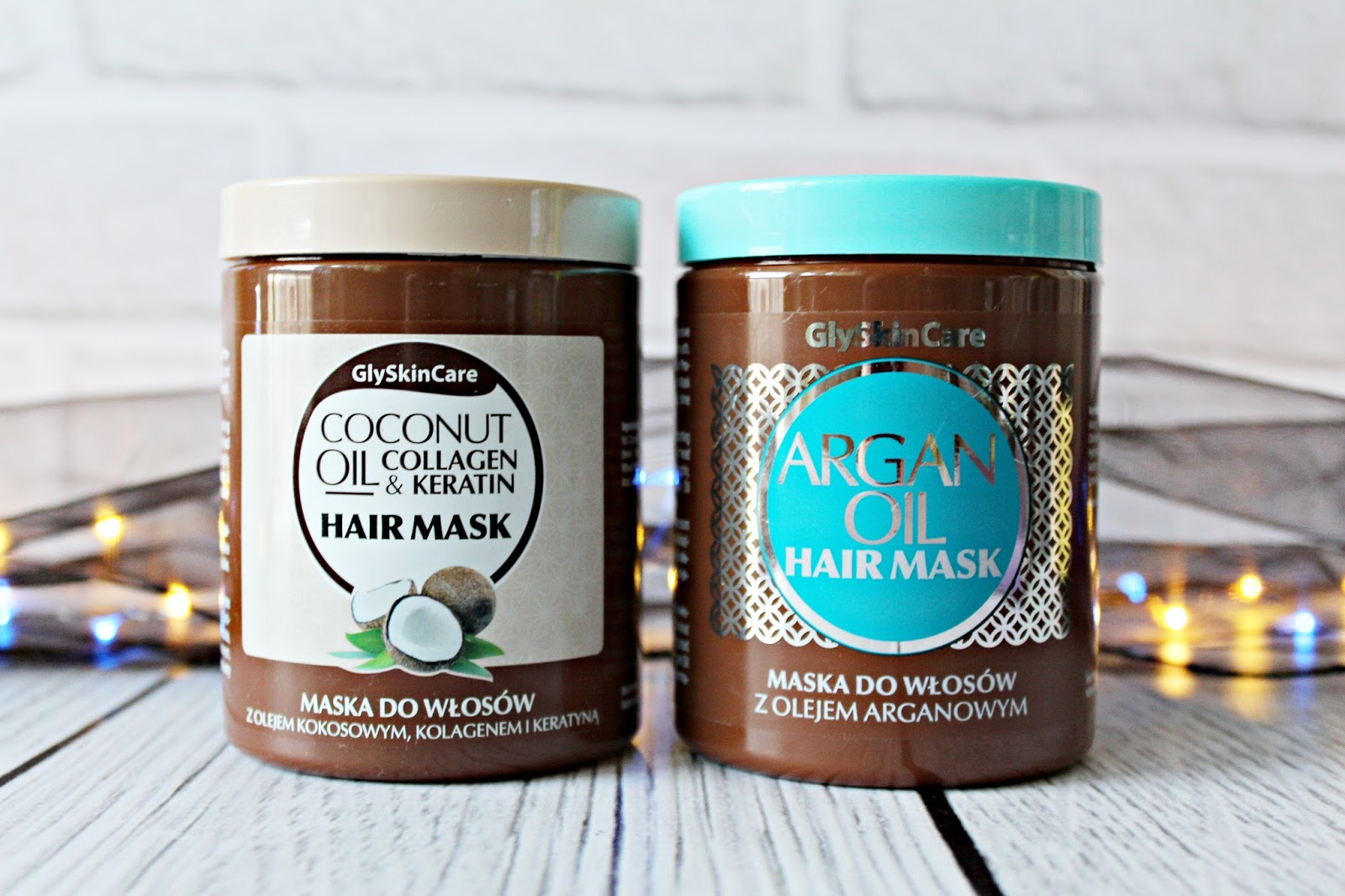 COCONUT OIL COLLAGEN & KERATIN HAIR MASK / ARGAN OIL HAIR MASK - GlySkinCare