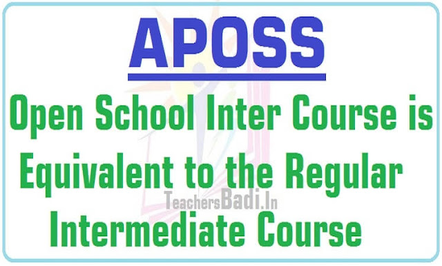 TOSS, APOSS,Open School Inter Course,Regular Intermediate course