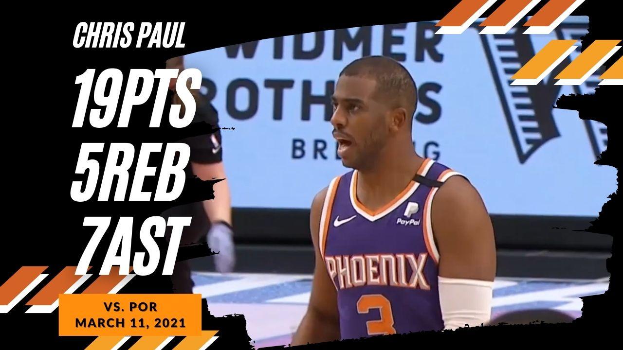 Chris Paul 19pts 5reb 7ast vs POR | March 11, 2021 | 2020-21 NBA Season
