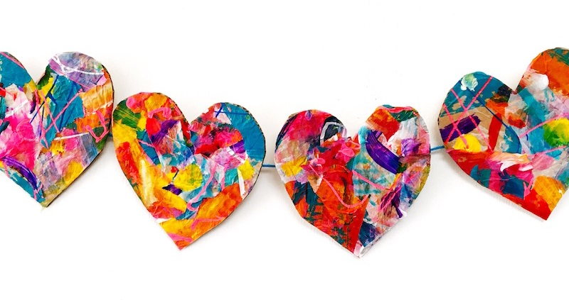 heart garland inspired by Eric Carle