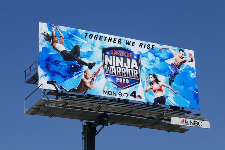 American Ninja Warrior 2020 NBC billboard