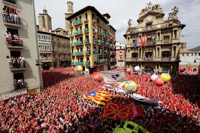 Pamplona, bikafuttatás, San Fermín, Navarra