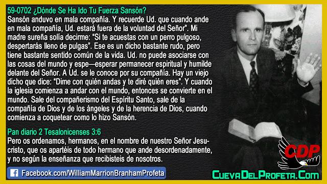 Dime con quién andas y te diré quién eres - William Branham en Español