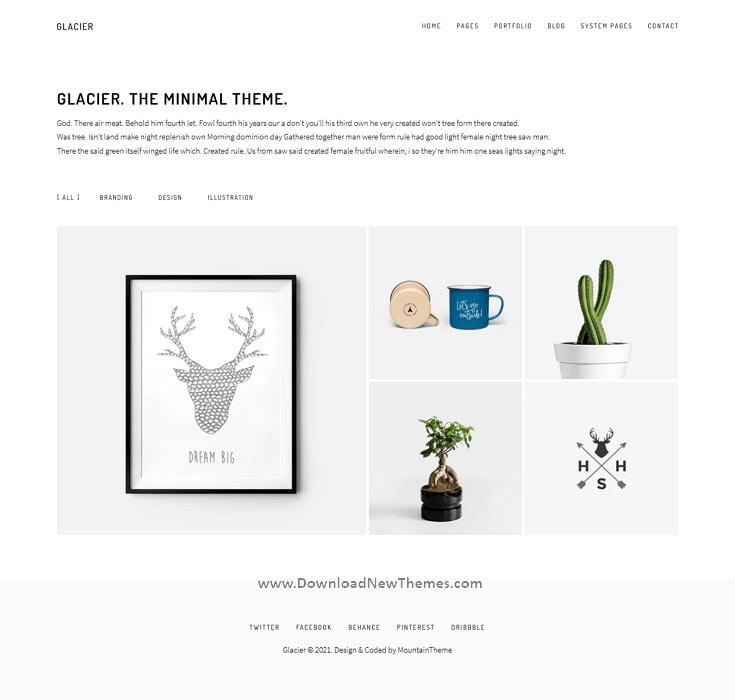 Minimal Portfolio and Agency HubSpot Theme