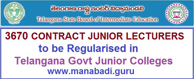 TS Govt junior colleges,contract employees,junior lecturers