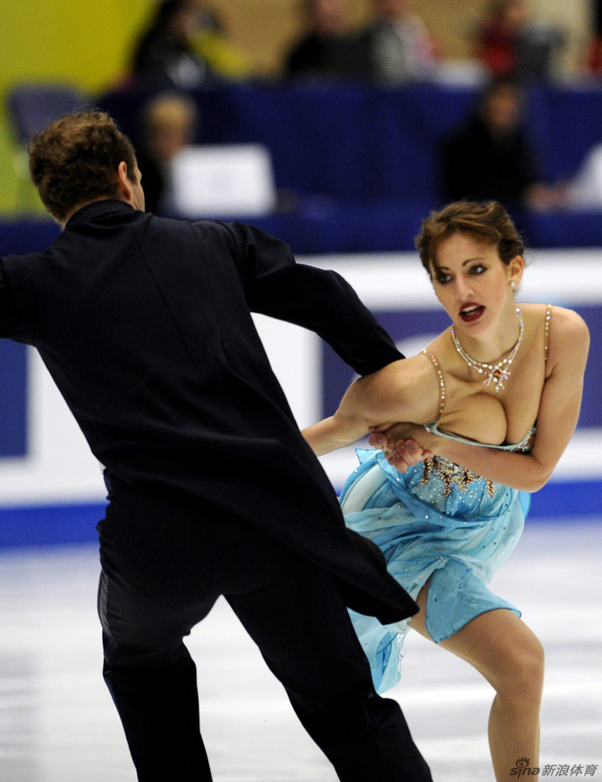Nora Hoffmann and Maxim Zavozin of Hungary compete in the Ice Dance short dance during the ISU Grand Prix of Figure Skating 2010 in Beijing on December 10, 2010.