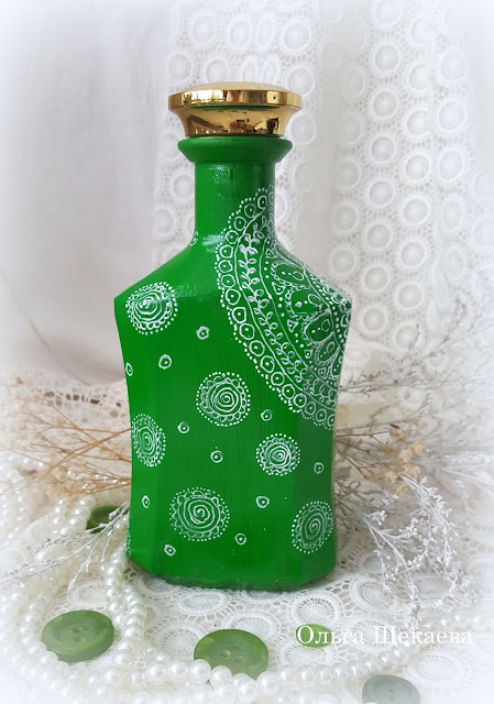 декор, бутылка, роспись,