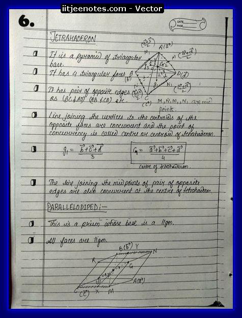 vector notes physics6