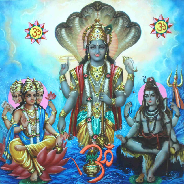 Lord Bramha Vishnu & Mahesh Om HD wallpaper