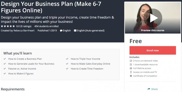 [100% Free] Design Your Business Plan (Make 6-7 Figures Online)