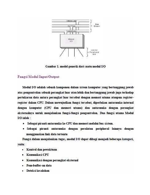 Delan Sistem Komputer Modul Io Dan Skema Peripheral