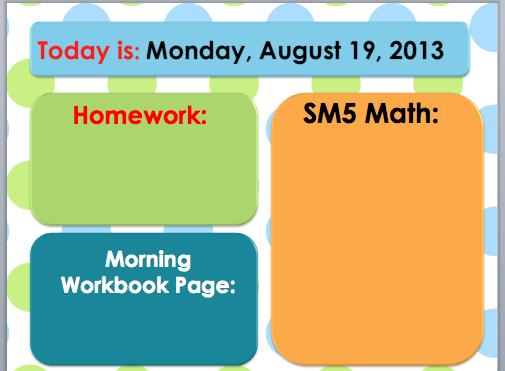 Seuss-perb Days in 2nd Grade!: Morning Message Slide