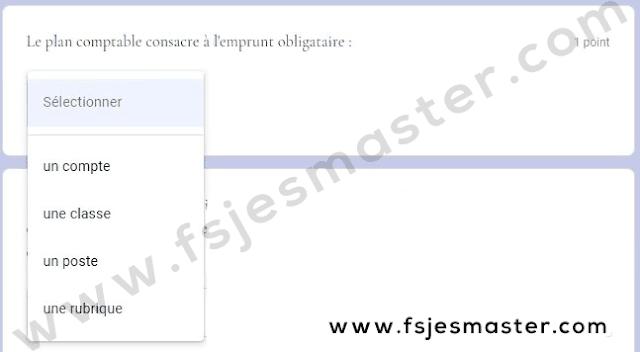 Exemple Concours Master Gestion Financière Comptable et Fiscale (GFCF) 2021-2022 - Fsjes Agdal