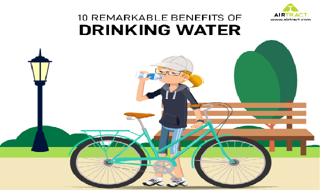 10 Remarkable Benefits of Drinking Water #infographic