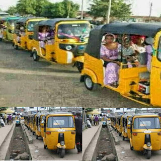 Reaction Goes Viral As Billionaire Used Keke Napep On His Wedding Day