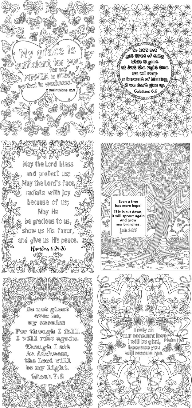 art therapy bible verse coloring pages