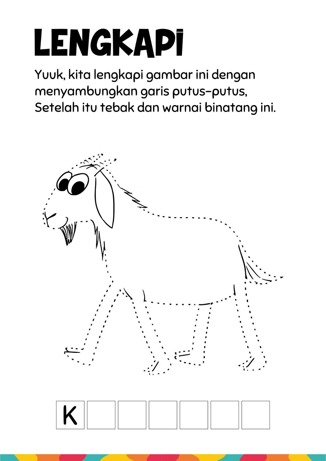 Gambar Binatang Garis Putus Putus