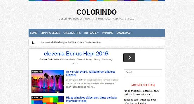 Colorindo Blogger Template Profesional
