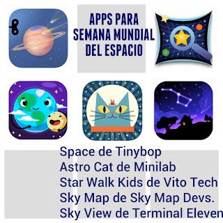 aplicaciones infantiles sobre el universo, el espacio y las estrellas