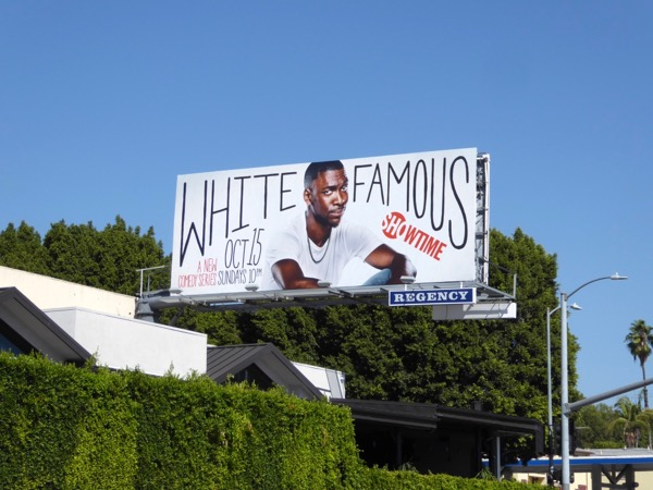 White Famous series launch billboard