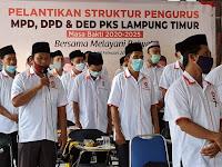 SAH! DPTD PKS LAMPUNG TIMUR MASA BAKTI 2020 - 2025 SIAP BEKERJA LAYANI RAKYAT