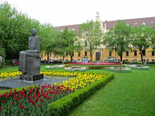 Parcul Central Brasov Transylvania Romania flowers
