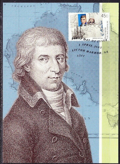 Australia Encounter of Matthew Finders,Nicolas Baudin MAx card
