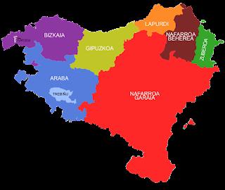 Los siete territorios históricos, euskera, el conflicto vasco