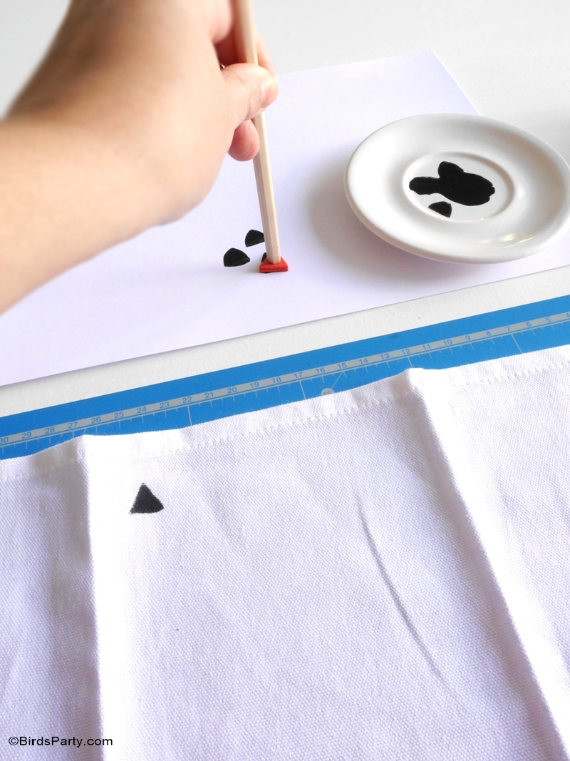 Les Serviettes de Table DIY - Estampillées à la main!