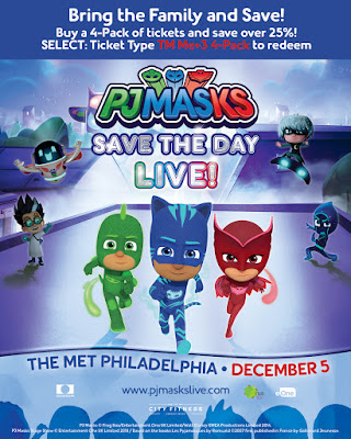 PJ Masks Save The Day Live! Coming to 费城 和 Ticket Giveaway