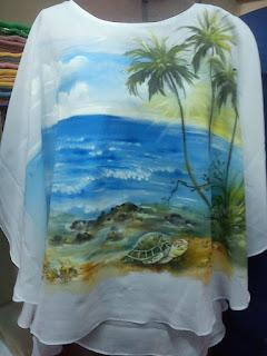 Lukis Kain Baju Tema Keindahan Pemandangan Alam Yang Mempesona
