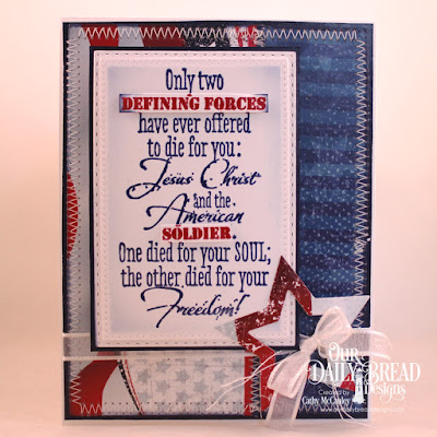 Our Daily Bread Designs Stamp: Defining Force, Paper Collection: Stars and Stripes, Custom Dies: Pierced Rectangles. Double Stitched Rectangles, Sparkling Stars