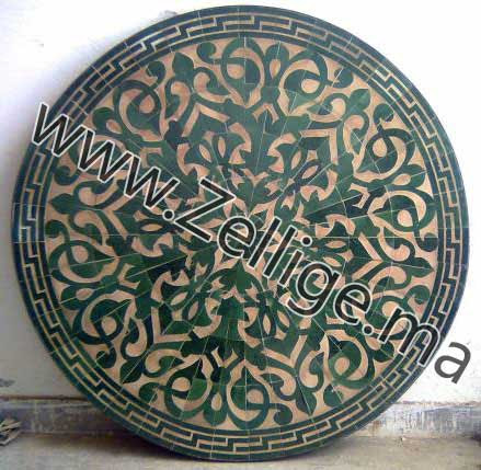 Table Marocain: Tables marocaine en Mosaique Zellige ...