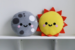 Sun Cushion, Sunshine Pillow, Sky Decor Moon Pretty New