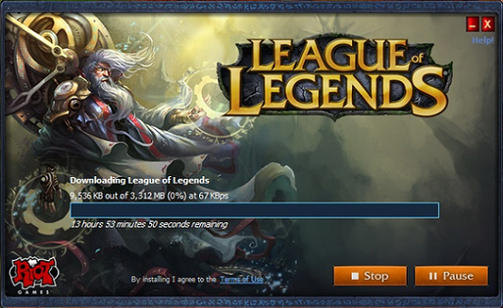League of Legends - Downloading