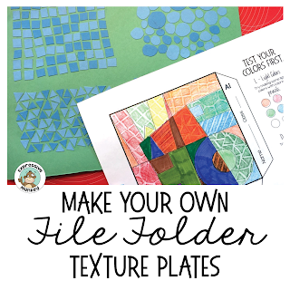 I couldn't believe how easy and cheap it could be to create your own texture plates! Now I can do texture rubbing art lessons with kids without breaking the bank!  Download the texture file labels for free :-)