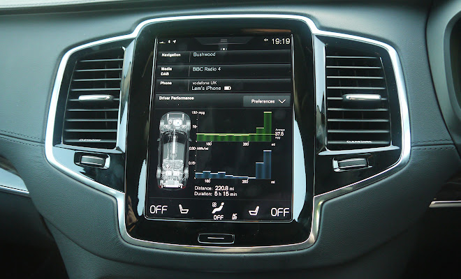 Volvo XC90 T8 touchscreen