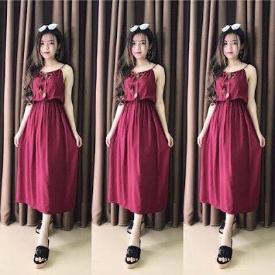 Váy đàm maxi dễ thương