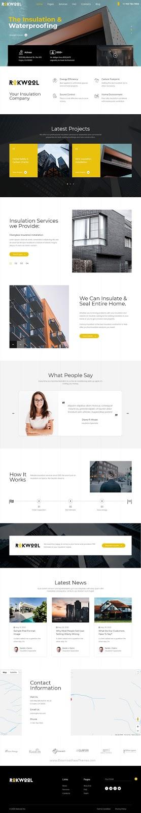 Premium WordPress theme for House Insulation