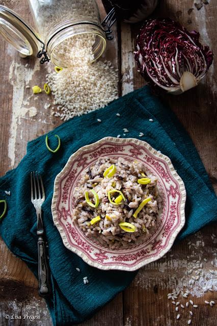 la ricetta del risotto con porri e radicchio di Chioggia