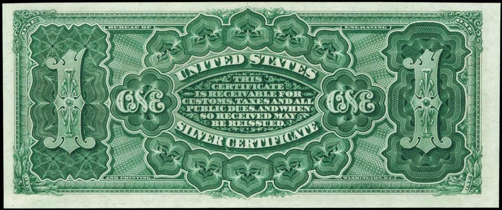 1886 1 Dollar Silver Certificate