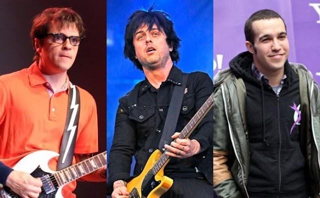 Green Day, Weezer e Fall Out Boy vão fazer uma turnê juntos e isso é incrível