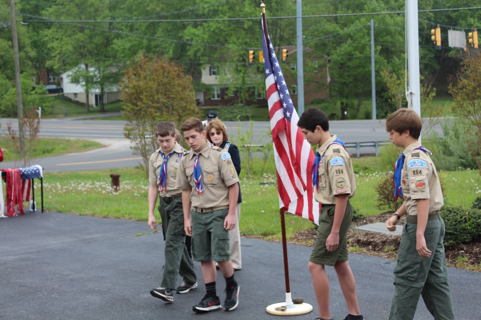 boy scout handbook flag ceremony