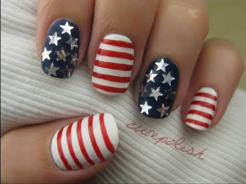 Happy Fourth Of July Nail Art Ideas Independence Day 2017