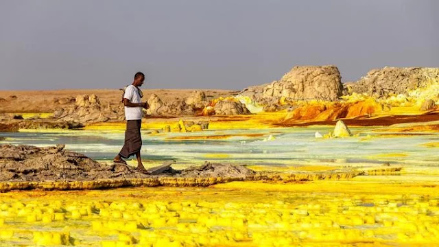 Danakil pan basin, Ethiopia