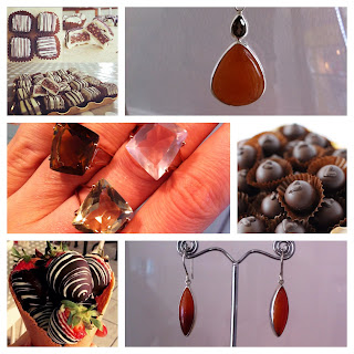 Warm, rich and creamy...beautiful gemstones and delicous chocolates! A match made in heaven!