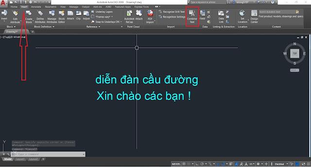 Chuyen nhieu DText thanh mot MText tren AutoCAD