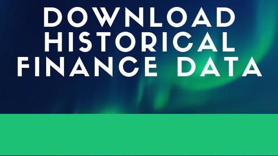 Download Historical Finance Data