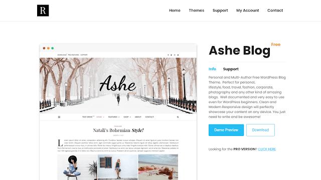 Ashe WordPress Theme