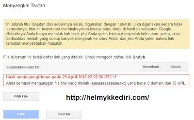 Menghapus backlink dengan google disavow link